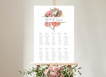 Affiches plan de tables