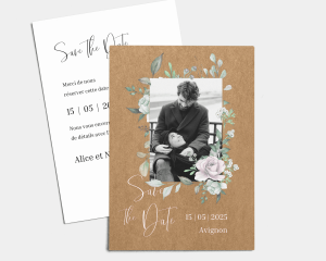 Claire - Save the Date carte mariage (vertical)