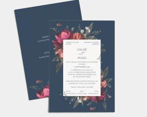 Blooming Botanical - Carte d´invitation au mariage (verticale)