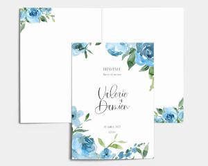 Blue Romance - Livrets de Messe Mariage