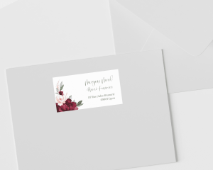 Beloved Floral - Étiquettes d'adresse pour enveloppes