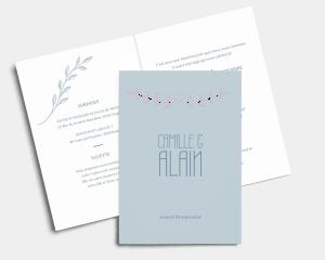 Together - Faire-part mariage Carte pliante (verticale)