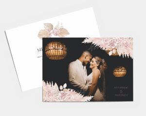 Bohemian - Carte de remerciements mariage petit format