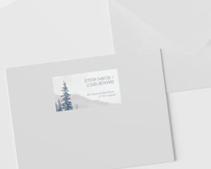 Painted Mountains - Étiquettes d'adresse pour enveloppes