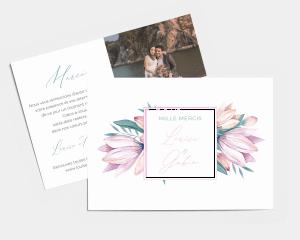 Blumengold - Carte de remerciements mariage petit format