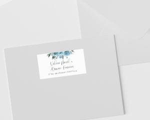 Blue Romance - Étiquettes d'adresse pour enveloppes