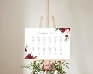 Beloved Floral - Plan de Table 70x50 cm (horizontal)