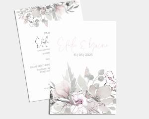 Bloom - Carte d´invitation au mariage (verticale)