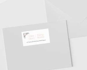 Ancona - Étiquettes d'adresse pour enveloppes