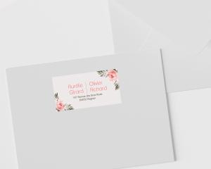 Aurora - Étiquettes d'adresse pour enveloppes