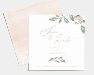 Dusted Calligraphy - Save the Date carte mariage