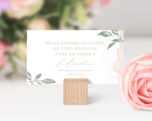 Dusted Calligraphy - Faire-part mariage petit format