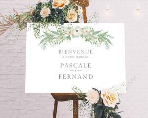 Romantic Garland - Panneau de bienvenue mariage