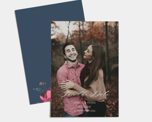 Blooming Botanical - Save the Date carte mariage (vertical)