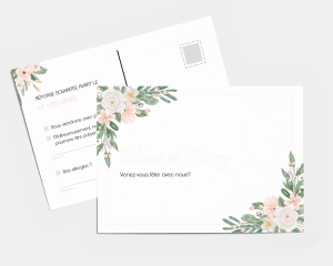Ancona - Carte-réponse pour mariage (horizontale)