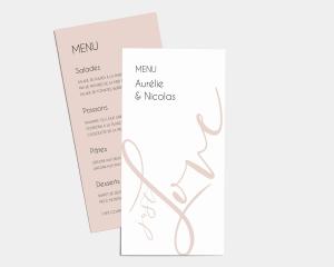 Just - Carte de Menu (langue)