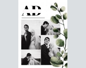 Leafy - Affiche de mariage (verticale)