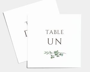 Leafy Hoops - Numéros de table carré ensemble 1-10
