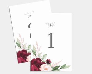 Beloved Floral - Numéros de Table 1 - 10