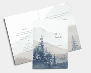 Painted Mountains - Faire-part mariage Carte pliante (verticale)