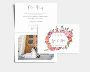 Estiva - Carte de remerciements mariage avec Photo
