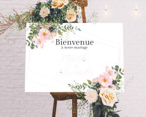 Fiore - Panneau de bienvenue mariage