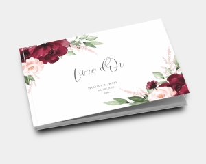 Beloved Floral - Livre d´or mariage