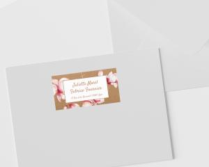 Cataleya - Étiquettes d'adresse pour enveloppes