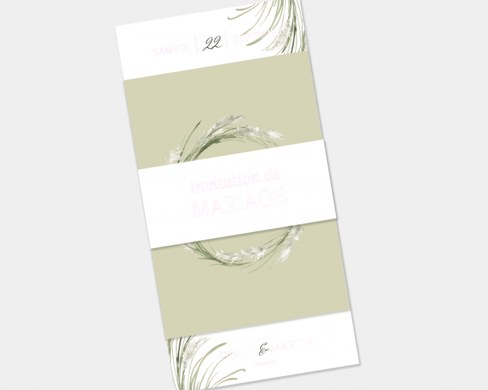 Erba della Pampas - Faire-Part mariage 3 ensemble