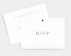 Bel Air - Carte-réponse pour mariage (horizontale)