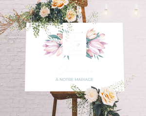 Blumengold - Panneau de bienvenue mariage
