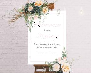 Ancona - Panneau de bienvenue mariage (vertical)