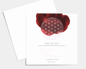 Flower of Life - Save the Date carte mariage
