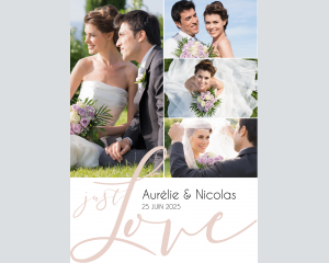 Just - Affiche de mariage (verticale)