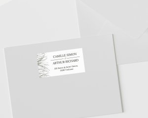 Erba della Pampas - Étiquettes d'adresse pour enveloppes
