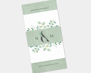Leafy Ampersand - Faire-Part mariage 3 ensemble