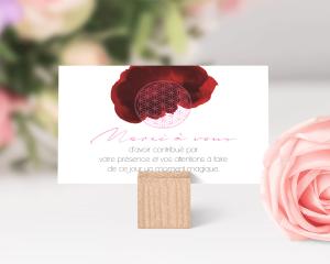 Flower of Life - Carte de remerciements mariage petit format