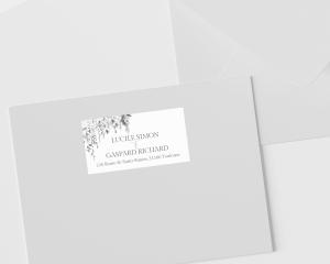 Romantic Wisteria - Étiquettes d'adresse pour enveloppes