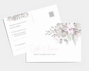 Bloom - Carte-réponse pour mariage (horizontale)