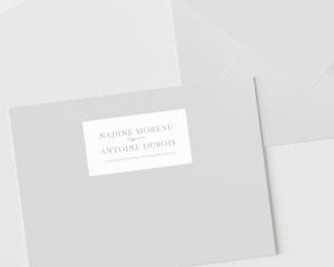 Natural Monogram - Étiquettes d'adresse pour enveloppes