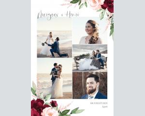 Beloved Floral - Affiche de mariage (verticale)