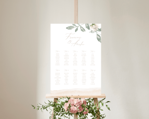 Dusted Calligraphy - Plan de Table 50x70 cm (vertical)