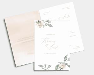 Dusted Calligraphy - Faire-part mariage Carte pliante (verticale)