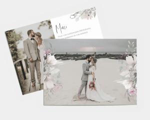 Bloom - Carte de remerciements mariage petit format