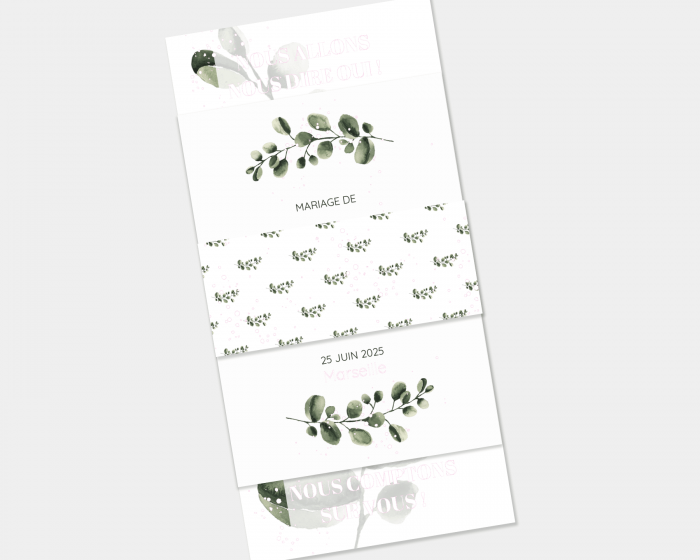 Leafy - Faire-Part mariage 3 ensemble