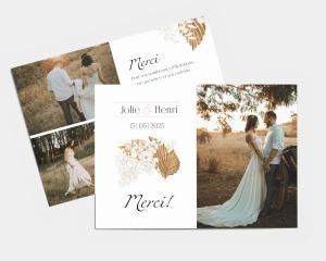 Ivory Luna - Carte de remerciements mariage petit format