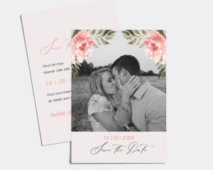 Aurora - Save the Date carte mariage (vertical)