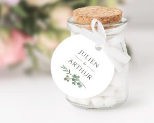 Leafy Hoops - Pendentif pour cadeau d´invité