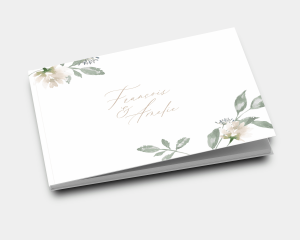 Dusted Calligraphy - Livre d´or mariage