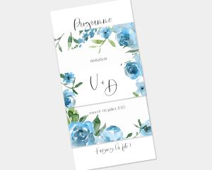 Blue Romance - Faire-Part mariage 3 ensemble